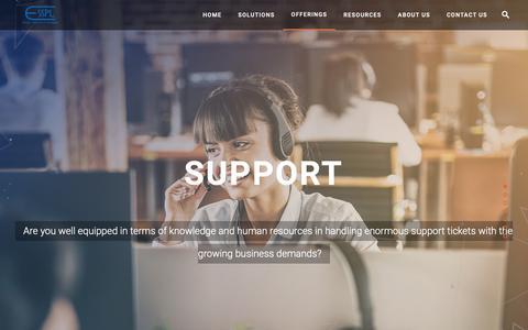 Screenshot of Support Page esspl.com - Software Support Services | ALM Support Help Desk - captured Nov. 9, 2018