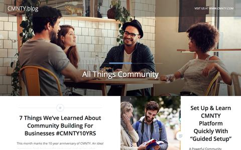 CMNTY - All Things Community