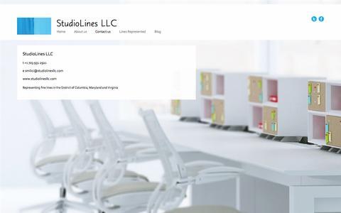Screenshot of Contact Page studiolinesllc.com - Contact us - captured Oct. 9, 2014
