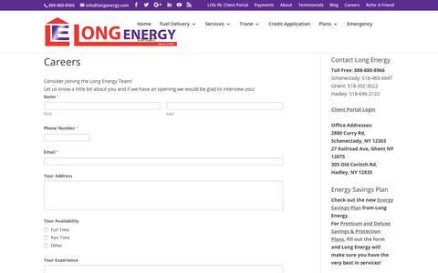 Screenshot of Jobs Page longenergy.com - Careers | Long Energy - captured Nov. 5, 2018