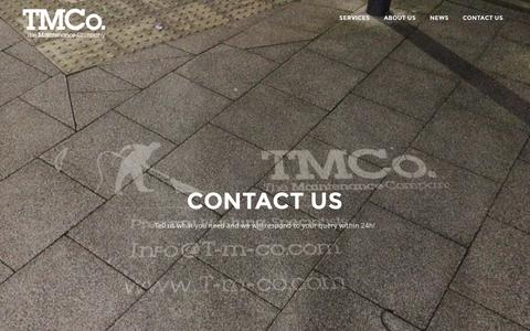 Screenshot of Contact Page t-m-co.com - Contact us | TMCo. The Maintenance Company - captured Oct. 24, 2017