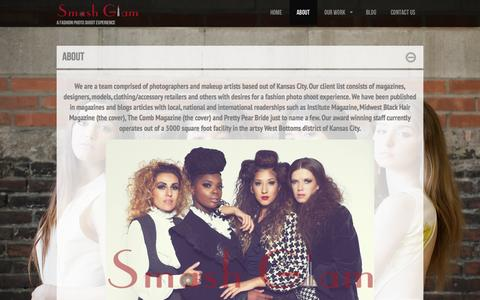 Screenshot of About Page smashglamsquad.com - About | SmashGlamSmashGlam | A Fashion Photo Shoot Experience - captured Oct. 26, 2014