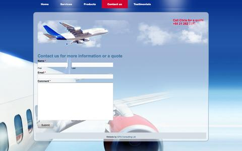 Screenshot of Contact Page adnz.co.nz - Contact us - Aircraft Detailing New Zealand - captured Oct. 4, 2014