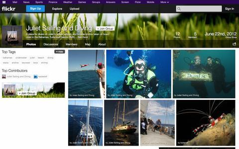Screenshot of Flickr Page flickr.com - Flickr: The Juliet Sailing and Diving Pool - captured Oct. 23, 2014
