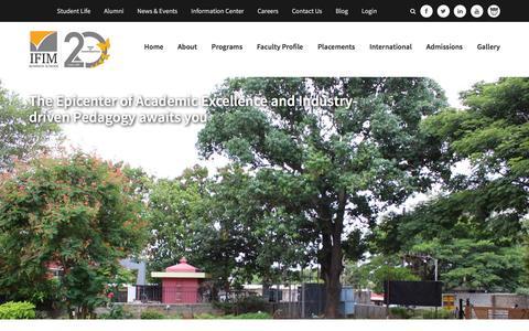 Screenshot of Contact Page ifimbschool.com - IFIM B School - captured Dec. 19, 2015