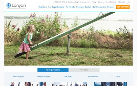 Screenshot of Home Page lanyon.com - Lanyon - Lanyon | Event Management Software | Corporate Travel Software | Home - captured Oct. 7, 2015
