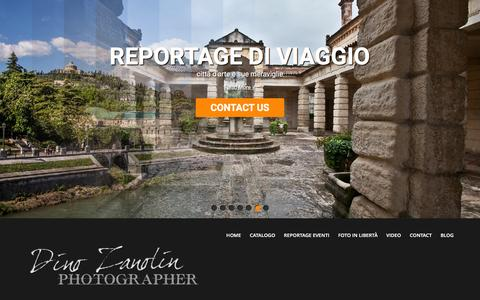 Screenshot of Home Page dinozanolin.it - Dino Zanolin fotografo - Foto e Video a Milano, Verona e Venezia - captured Jan. 7, 2016