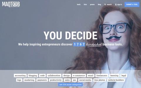 Screenshot of Home Page maqtoob.com - MAQTOOB - captured Nov. 6, 2015