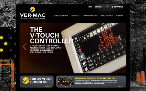 Screenshot of Home Page ver-mac.com - Ver-Mac | Road Traffic Management Systems & Traffic Equipments - captured Sept. 30, 2014