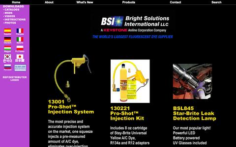 Screenshot of Home Page brightsol.com - Bright Solutions - captured Oct. 5, 2014