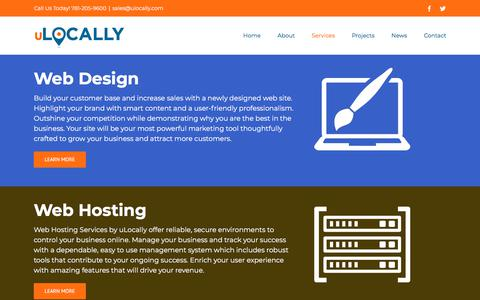 Screenshot of Services Page ulocally.com - Services - uLocally - captured July 9, 2018