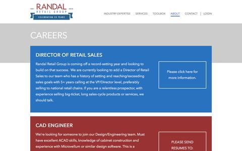 Screenshot of Jobs Page randalretail.com - Careers - Randal Retail Group - captured Nov. 12, 2017