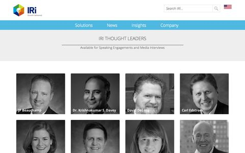 Screenshot of Blog iriworldwide.com - IRI Thought Leaders - captured Jan. 6, 2020