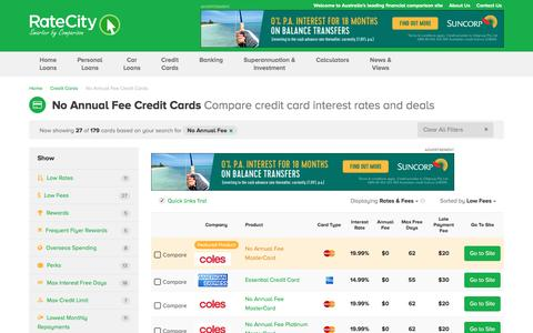 Top 2017 $0 Annual Fee Credit Cards - Deals | RateCity