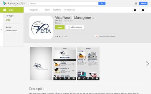 Screenshot of Android App Page google.com - Vista Wealth Management - Android Apps on Google Play - captured Oct. 26, 2014