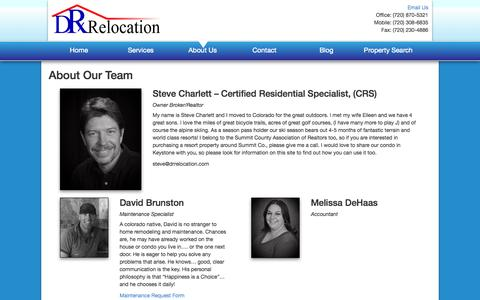 Screenshot of About Page drrelocation.com - About Us | - captured Oct. 5, 2014