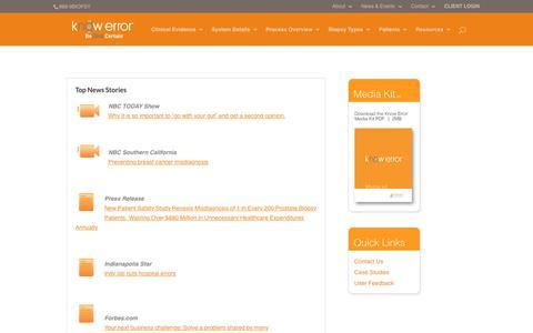 Screenshot of Press Page knowerror.com - News - Know Error - captured Nov. 24, 2016