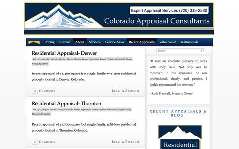 Screenshot of Blog appraisalcolorado.com - Colorado Appraisal Consultants Blog | Colorado Appraisal Consultants - captured Jan. 29, 2016