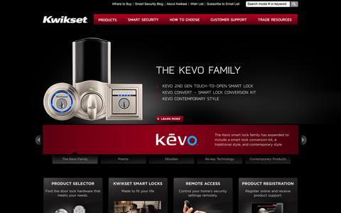 Screenshot of Home Page kwikset.com - Kwikset: Door Locks, Door Hardware, Smart Locks & Smartkey Technology - captured Aug. 18, 2018