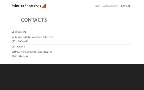 Screenshot of Contact Page weebly.com - Contact - Interior Resources - captured Sept. 19, 2018