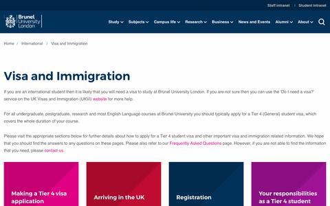 Visa and Immigration | Brunel University London