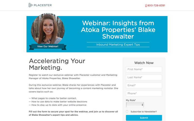 Placester Webinar: Accelerating Your Marketing with Placester: Insights from Atoka Properties' Blake Showalter