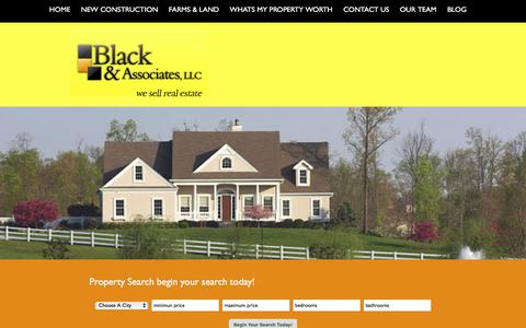 Screenshot of Home Page blackandassociatesllc.com - We sell Real Estate   Homes Troy Mo - Lincoln County Real Estate - captured Oct. 10, 2017