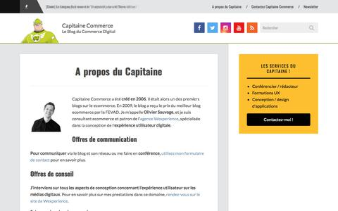 Screenshot of About Page capitaine-commerce.com - A propos du Capitaine - Capitaine Commerce - captured June 25, 2017