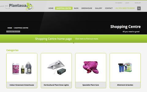 Screenshot of Products Page plantasia.co.uk - Shopping centre | Plantasia - captured May 19, 2017