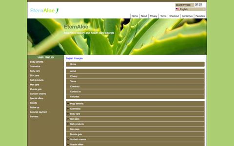 Screenshot of Site Map Page Menu Page eternaloe.com - Carte du site - captured Oct. 22, 2014