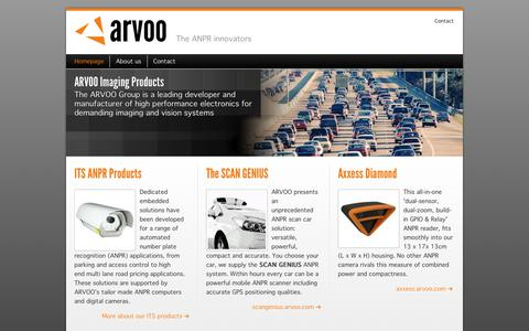 Screenshot of Home Page arvoo.com - Leading developer and manufacturer of high performance electronics for demanding imaging and vision systems • Arvoo Imaging Products - captured Nov. 12, 2018