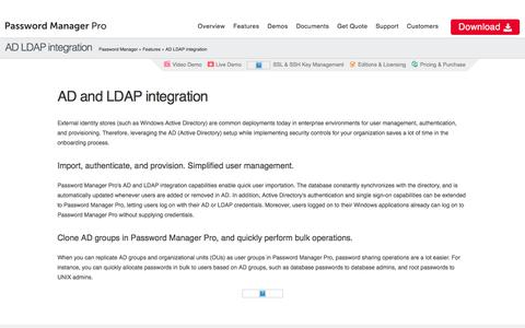 AD and LDAP Integration - ManageEngine Password Manager Pro