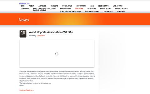 Our Team «  World eSports, LLC