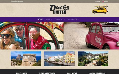 Screenshot of Home Page ducksunited.com - Ducks United - captured Oct. 5, 2014