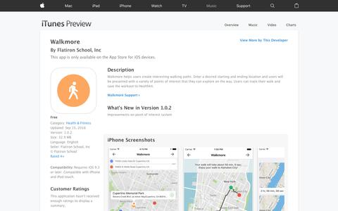 Walkmore on the App Store