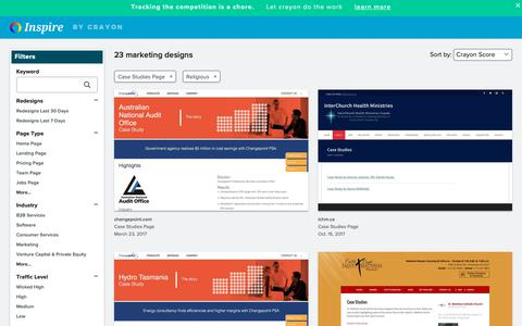 Screenshot of Case Studies Page crayon.co - Religious Case Studies Pages | Website Inspiration and Examples | Crayon - captured April 25, 2019