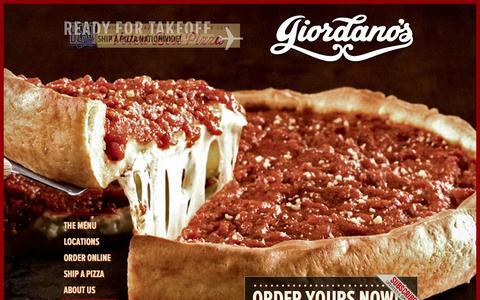 Screenshot of Home Page giordanos.com - HOME - Giordano's Famous Chicago Pizza - captured Sept. 23, 2014