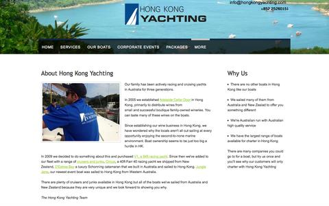 Screenshot of About Page hongkongyachting.com - About Us - captured Sept. 30, 2014