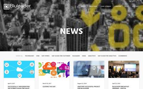 Screenshot of Press Page bluleader.com.au - The Latest News in SAP, CRM, Hybris, AI, BI, HANA at Bluleader. - captured June 3, 2017