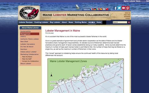 Screenshot of Team Page lobsterfrommaine.com - Lobster Management in Maine - captured Oct. 1, 2014