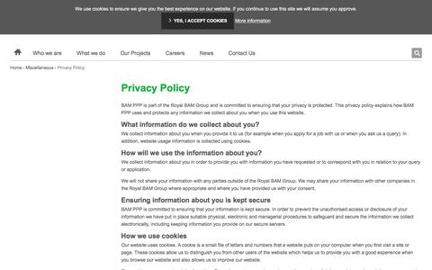 Screenshot of Privacy Page bamppp.com - Privacy Policy   BAM PPP - captured July 25, 2018