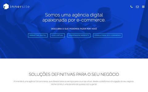 Screenshot of Home Page innersite.com.br - Innersite - E-commerce para quem entende - captured June 7, 2017