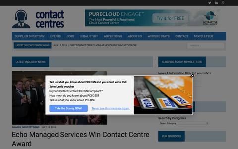Screenshot of Home Page contact-centres.com - Home - Contact-Centres.com - captured July 19, 2016