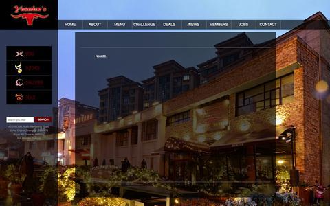 Screenshot of Menu Page yasmines.com.cn - YASMIES's STEAK&BUTCHER SHOP - captured Sept. 26, 2014