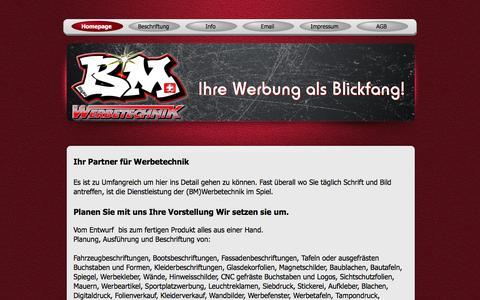 Screenshot of Home Page bmwerbetechnik.com - BMwerbetechnik - captured March 11, 2016