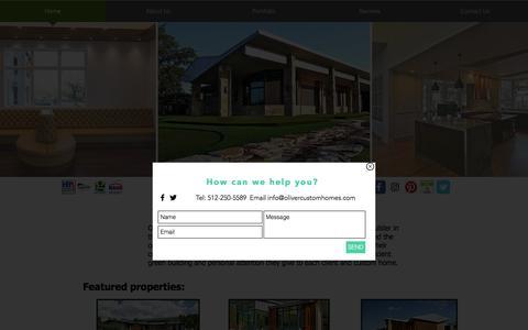 Screenshot of Home Page olivercustomhomes.com - Oliver Custom Homes Home Builder - captured Dec. 1, 2016