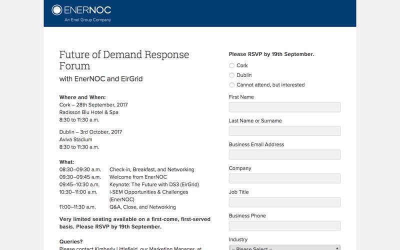 Future of Demand Response Forum