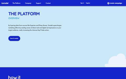 Screenshot of Case Studies Page Pricing Page taradel.com - Taradel: The Platform - captured Feb. 26, 2019