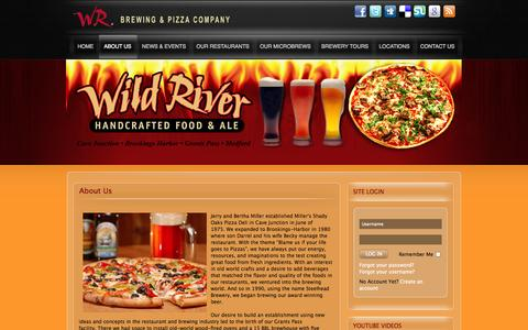 Screenshot of About Page wildriverbrewing.com - About Us - captured Oct. 26, 2014