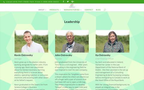 Screenshot of Team Page tangiblesltd.com - Leadership | Tangibles - captured Nov. 19, 2018